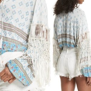 Free People Macra Maze Me Fringe Top